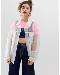 Chaqueta estilo camisa transparente