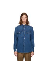 Chaqueta estilo camisa vaquera azul de Burberry
