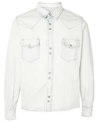 Chaqueta estilo camisa vaquera blanca de Saint Laurent
