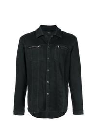 Chaqueta estilo camisa vaquera negra