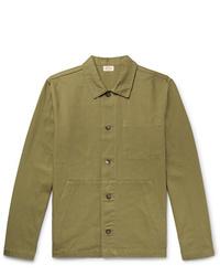 Chaqueta estilo camisa verde oliva de Armor Lux