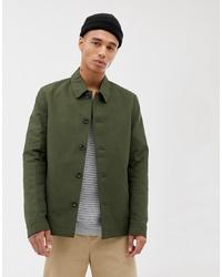Chaqueta estilo camisa verde oliva de ASOS DESIGN