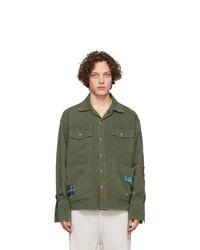 Chaqueta estilo camisa verde oliva de Greg Lauren