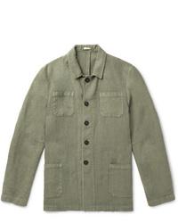 Chaqueta estilo camisa verde oliva de Massimo Alba