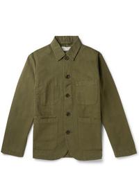 Chaqueta estilo camisa verde oliva de Universal Works