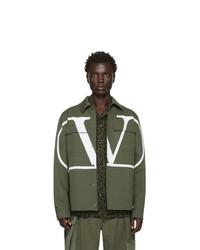 Chaqueta estilo camisa verde oliva de Valentino
