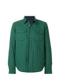 Chaqueta estilo camisa verde