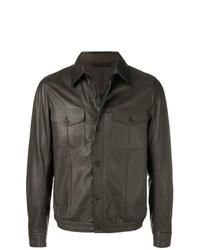 Chaqueta estilo camisa verde oscuro de Ermenegildo Zegna