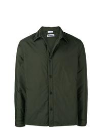 Chaqueta estilo camisa verde oscuro de Jil Sander