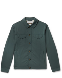 Chaqueta estilo camisa verde oscuro de Loro Piana