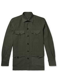 Chaqueta estilo camisa verde oscuro de Rubinacci