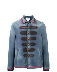 Chaqueta Militar Azul de Gucci