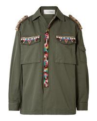 Chaqueta militar con adornos verde oliva de Valentino