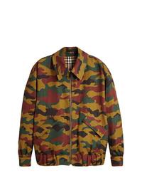 Chaqueta militar de camuflaje en multicolor de Burberry