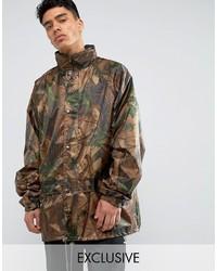 Chaqueta militar de camuflaje marrón