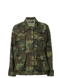 Chaqueta militar de camuflaje verde oliva de Amiri