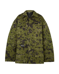 Chaqueta militar de camuflaje verde oliva de We11done