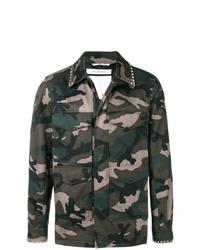 Chaqueta militar de camuflaje verde oscuro de Valentino