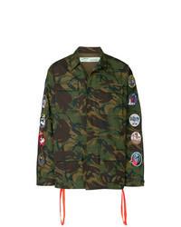 Chaqueta militar en multicolor