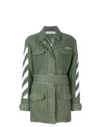 Chaqueta Militar Verde Oliva de Off-White