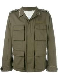 Chaqueta militar verde oliva de Valentino