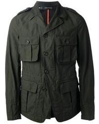 Chaqueta Militar Verde Oscuro de DSQUARED2