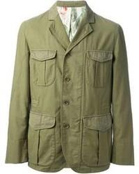 Chaqueta Militar Verde Oscuro de Montedoro