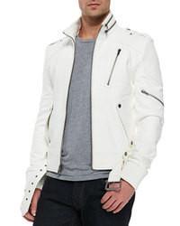 Chaqueta motera blanca original 8633633