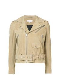 Comprar una chaqueta motera de ante marrón claro  elegir chaquetas ... afb4cb70f386