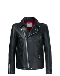 Chaqueta motera de cuero negra de Addict Clothes Japan