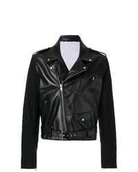Chaqueta motera de cuero negra de Calvin Klein 205W39nyc