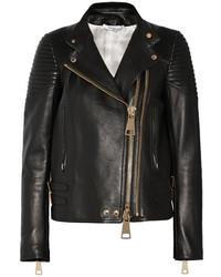 Chaqueta Motera de Cuero Negra de Givenchy