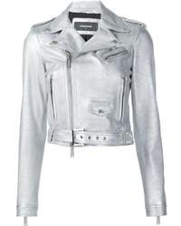 nueva colección elegir oficial zapatillas de deporte para baratas Comprar una chaqueta motera de cuero plateada: elegir ...