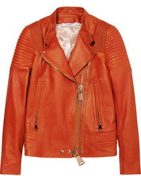 Chaqueta Motera de Cuero Roja de Givenchy