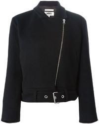 Chaqueta motera de lana negra de MM6 MAISON MARGIELA