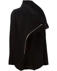 Chaqueta motera de lana negra de Rick Owens