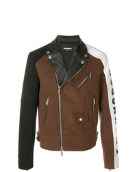 Chaqueta motera en multicolor de DSQUARED2
