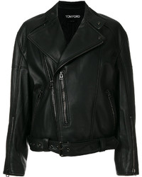 Chaqueta motera negra de Tom Ford
