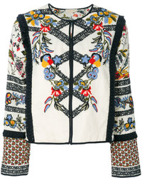 Chaqueta Сon Flecos Blanca de Tory Burch