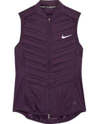 Chaqueta sin mangas acolchada morado oscuro de Nike