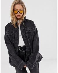 Chaqueta vaquera negra de Cheap Monday