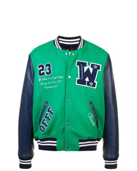 Chaqueta varsity estampada en multicolor de Off-White