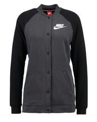 Chaqueta Varsity Gris Oscuro de Nike