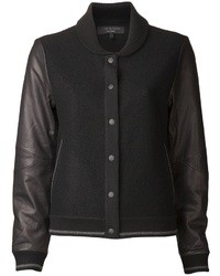 Chaqueta Varsity Negra de Rag and Bone