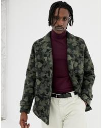 Chaquetón de camuflaje verde oscuro de ASOS DESIGN