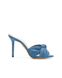 Chinelas azules de Charlotte Olympia