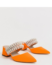 Chinelas de ante naranjas de ASOS DESIGN
