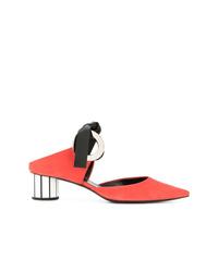 Chinelas de ante rojas de Proenza Schouler