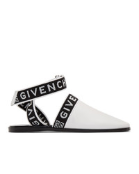 Chinelas de cuero en blanco y negro de Givenchy