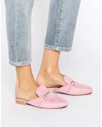 Chinelas de cuero rosadas de Asos